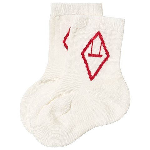 The Animals Observatory Red and White Baby Snail Socks