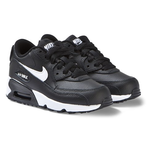 7d9e3c5f5 Nike Black Nike Air Max 90 Leather Trainers | AlexandAlexa