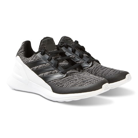 adidas Performance Black with White Heel RapidaRun Knit Trainers
