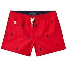 379b867155 Red All Over Pony Print Swim Shorts