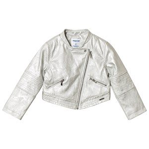 MAYORAL | Mayoral Silver Faux Leather Jacket 5 Years | Goxip