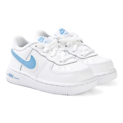 Nike White and Blue Nike Air Force 1-3 Infants Trainers