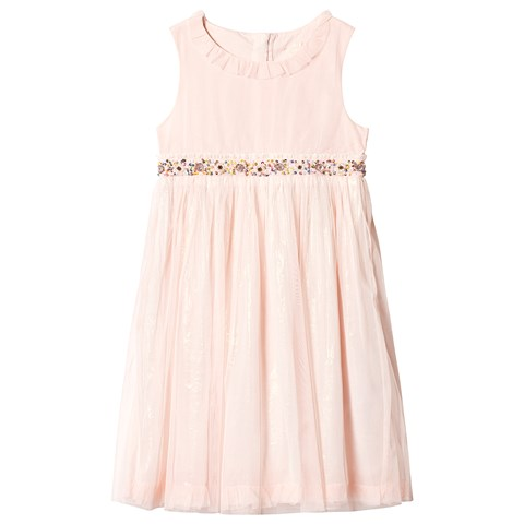 Billieblush Light Pink Tulle Party Dress with Sequin Waist