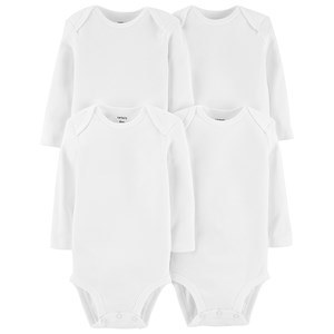 Carter's Carter's 5-Pack White Baby Bodies 12 Months