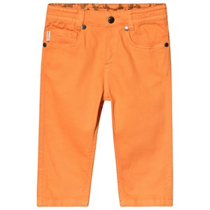 PAUL SMITH JUNIOR | Paul Smith Junior Orange 5 Pocket Denim Jeans with Elasticated Waitband 9 months | Goxip