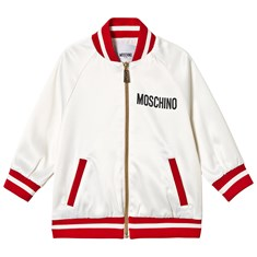 380b490903bf2 White Bear Print and Sequin Heart Bomber Jacket. Quickshop. Moschino. White  Bear Print ...
