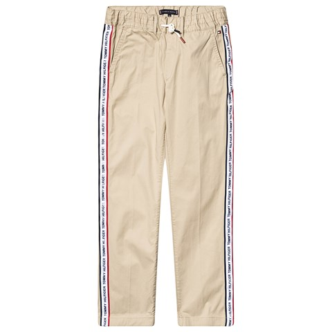 1a85009c97f Tommy Hilfiger Beige Branded Taped Chinos   AlexandAlexa