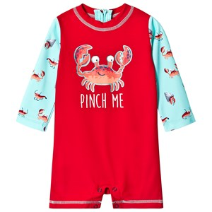 HATLEY | Hatley Red Silly Crustaceans Baby Rashguard One-Piece 9-12 months | Goxip