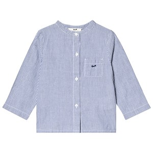 CYRILLUS | Cyrillus Cyrillus Blue and White Stripe Collarless Shirt 36 months | Goxip