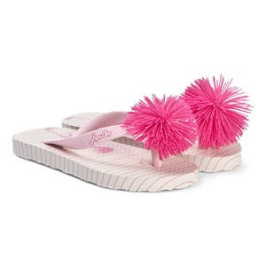 JOULES | Joules Pink Flamingo Flip Flop with Pink Pom Pom 34 (UK 2) | Goxip