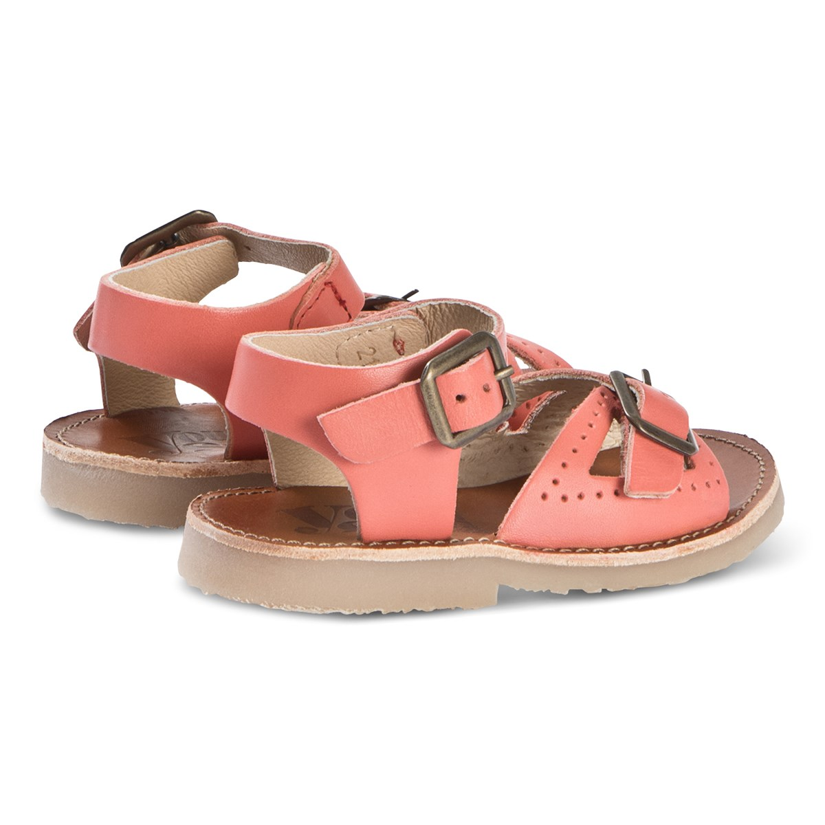 08a5a9cd4e1 Young Soles Coral Leather Pearl Sandals