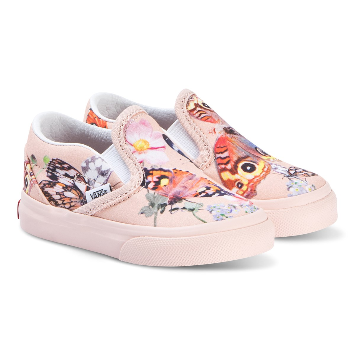 Molo Pink Butterfly Print Vans X Molo Slip On Shoes