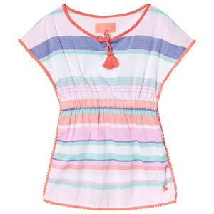 JOULES | Joules Multi Stripe Woven Beach Kaftan 7-8 years | Goxip