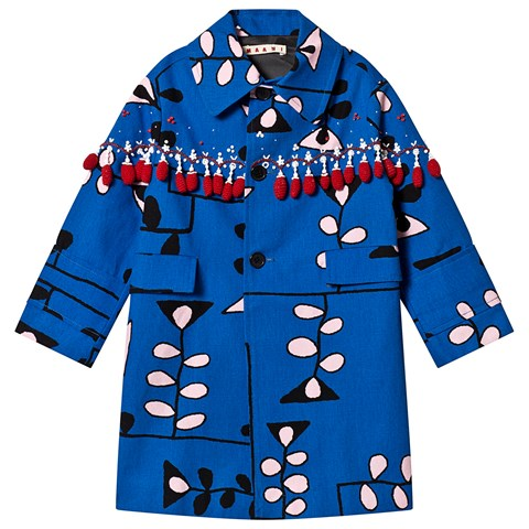 Marni Blue Shirt Floral Jacket