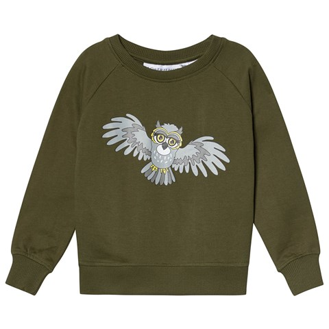 Tao & Friends Sweatshirt Ugglan Dark Green