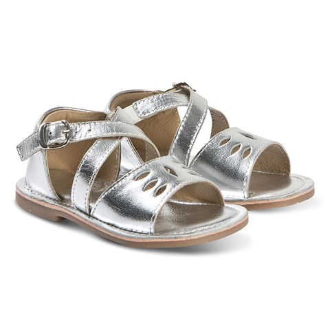 Carrément Beau Silver Buckle Sandals