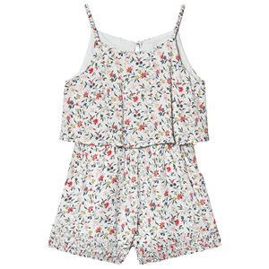 CHLOÉ | Chloé Chloé Blue Ditsy Floral Print Playsuit with Ruched Hems 5 years | Goxip