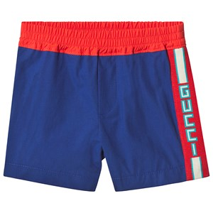 GUCCI | Gucci Gucci Blue Poplin Shorts with Logo Trim 3-6 months | Goxip