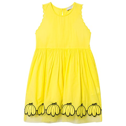 Stella McCartney Kids Yellow Banana Hem Dress