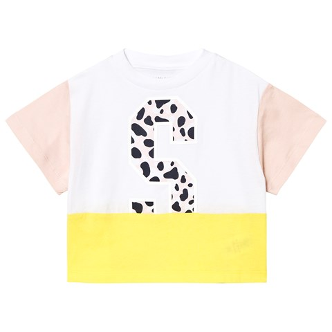 745c52494d7 Pink and Yellow Colour Block Sport T-Shirt