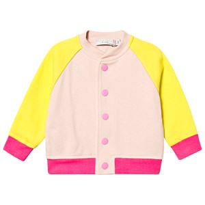STELLA MCCARTNEY KIDS   Stella McCartney Kids Pink and Yellow Colour Block Sweatshirt 24 months   Goxip