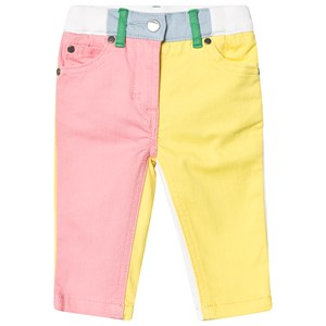 STELLA MCCARTNEY KIDS | Stella McCartney Kids Pink and Yellow Colour Block Jeans 9 months | Goxip