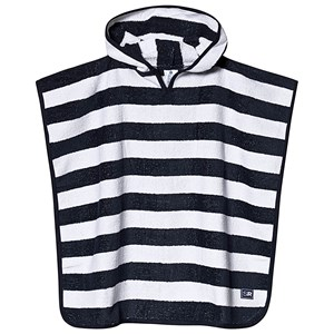 SNAPPER ROCK | Snapper Rock Navy White Stripe Poncho Towel S/M (2-6 years) | Goxip
