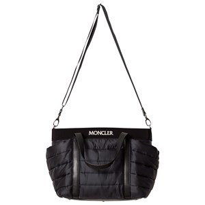 MONCLER | Moncler Black Quilted Changing Bag and Mat One Size | Goxip