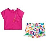5fa8eb36f Pink Top and White Multi Pattern Short Set. Quickshop. Agatha Ruiz de la  Prada