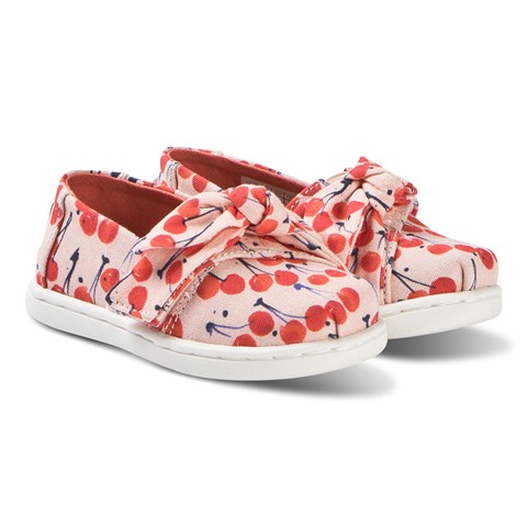 c3a4ef89f0e Toms Cream Cherries Bow Alpargata Slip On Strap Trainers | AlexandAlexa