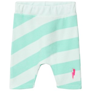 SCAMP & DUDE   Scamp & Dude Mint And Pale Green Stripe Lucky Shorts 7-8 Years   Goxip