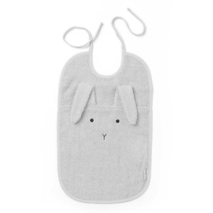 LIEWOOD | Liewood Dumbo Grey Rabbit Theo Terry Bib One Size | Goxip