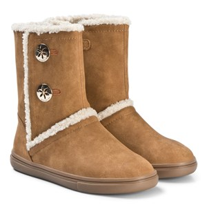 MAYORAL | Mayoral Mayoral Brown Button Detail Fleece Lined Boots 34 (UK 2) | Goxip