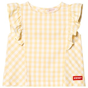 TINYCOTTONS | Tinycottons Canary Yellow Check Ruffle Blouse 8 Years | Goxip
