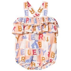 Burberry Babies'  Multi Branded Caryline Romper In Pink