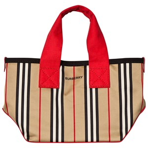BURBERRY | Burberry Beige Archive Stripe Tote Bag ONE SIZE | Goxip