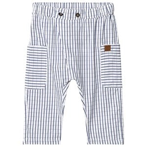 HUST & CLAIRE | Hust & Claire Blue & White Tais Grid Trousers 92 cm (1,5-2 Years) | Goxip