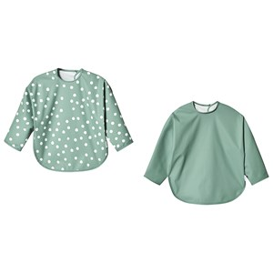 BUDDY & HOPE | Buddy & Hope Green Pack of 2 Long Sleeved Bibs One Size | Goxip