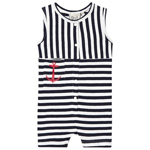 EMMA OCH MALENA | Emma och Malena Emma och Malena Navy & White Baby Vac Striped Jumpsuit 86/92 cm | Goxip