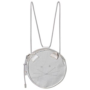 EASY PEASY | Easy Peasy Grey Round Cat Face Convertible Backpack One Size | Goxip