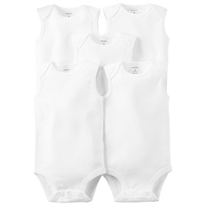 Carter's Carter's 5-Pack White Tank Baby Bodies 6 Months