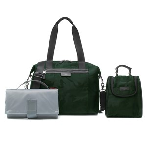 STORKSAK | Storksak Camo Green Stevie Luxe Changing Bag One Size | Goxip