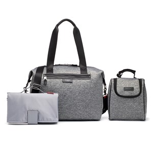 STORKSAK | Storksak Grey Marl Stevie Luxe Scuba Changing Bag One Size | Goxip