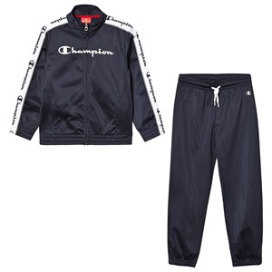 CHAMPION   Champion Red & Navy Branded Tricot Tracksuit 9-10 Years   Goxip
