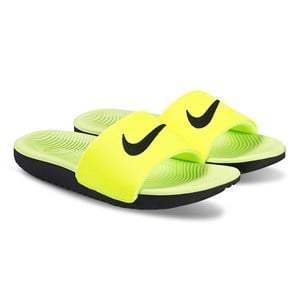 NIKE | Nike Yellow Nike Kawa Slides 39.5 (UK 6.5) | Goxip