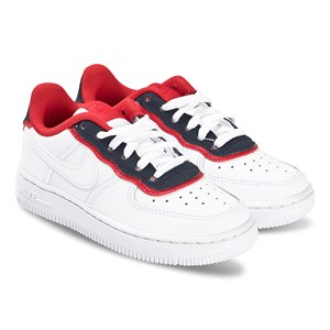 NIKE | Nike White And Navy Nike Air Force 1 Trainers 38.5 (UK 5.5) | Goxip
