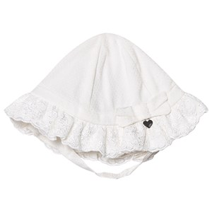 MAYORAL | Mayoral Mayoral White Ruffle Dressy Sun Hat 6-9 Months | Goxip