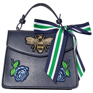 MAYORAL | Mayoral Navy Embroidered Bee Fabric Strap Handbag One Size | Goxip