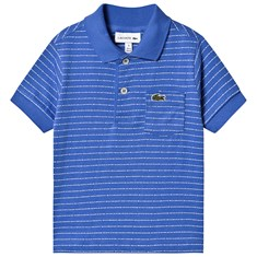 5c7f5c13351 Blue Striped Jersey Polo
