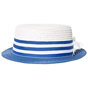 MAYORAL | Mayoral Blue And Beige Bow Detail Straw Hat 52 (6-8 Years) | Goxip